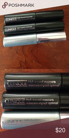 Clinique Mascara Bundle Selling together. All are brand new. All are black. Clinique Makeup Mascara