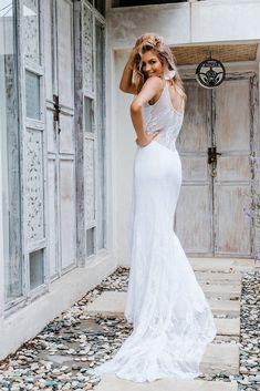 Ziggy   The GC Bridal Lounge #weddingdress#boho#dusktilldawn#gown#lace #wedding