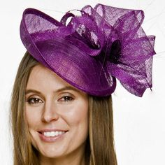 734371333a8 TheHeadwearBoutique on Etsy- Tully Purple Kentucky Derby Fascinator Headband