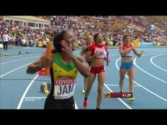 Jamaica wins 4x100 Mètres relay women : Final IAAF World Championships A...