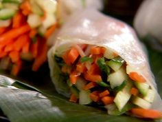 Summer Rolls with Ginger Dipping Sauce from FoodNetwork.com