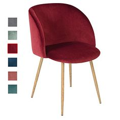 Eggree Velvet Armchair, Modern Accent Chair, Designer Furniture for Dining Living Waiting Room - Wine Red Contemporary Armchair, Contemporary Home Furniture, Modern Furniture Online, Velvet Accent Chair, Velvet Armchair, Living Room Accents, Accent Chairs For Living Room, Living Rooms, Cafe Chairs