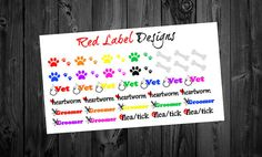 Dog Bundle stickers perfect for any planner 36 by RedLabelDesigns