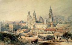Cathedral at Santiago de Compostela by David Roberts (1796 – 1864)