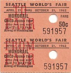 Monorail tix circa the World's Fair. Cool to see.