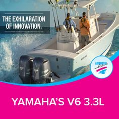 FOR THOSE WHO DEMAND LEGENDARY OFFSHORE PERFORMANCE. Yamaha's V6 3.3L four strokes set the benchmark for today's outboard power. This technology was so revolutionary that it garnered not only aBoating WeekInnovation Award, but also an Editor's Choice Award fromMotor-boatingMagazine.