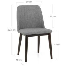 Elwood Walnut Dining Chair Grey Fabric