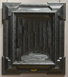 Taylor Holland takes antique frames and fills them with hand-crafted moulds