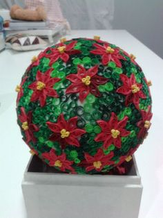 Quilling ball, for the Christmas tree.