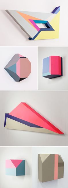 Painted wood pieces of New York based Korean artist Zin Helena Song