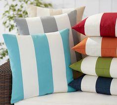 PB Classic Stripe Indoor/Outdoor Pillow