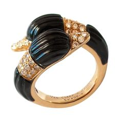 Van Cleef & Arpels Swan Ring | From a unique collection of vintage fashion rings at http://www.1stdibs.com/jewelry/rings/fashion-rings/ 9.75K USD