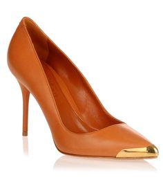Tan leather toe-cap pump Alexander McQueen - Savannah's