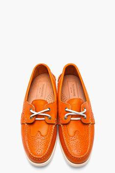 97fe3407f93 H By Hudson for Men FW17 Collection · Thom Browne ShoesHudson  ClothingOrange LeatherBoat ...