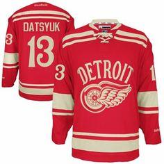 b560299abac Reebok Detroit Red Wings Pavel Datsyuk 2014 Winter Classic Premier Jersey -  Red