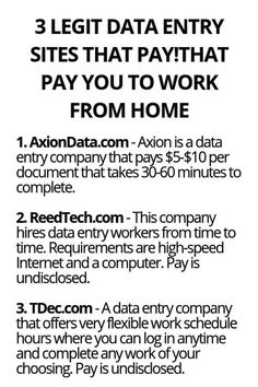 3 Legit Data Entry Sites That Pay You To Work From Home - Wisdom Lives Here (With images) Ways To Earn Money, Earn Money From Home, Earn Money Online, Way To Make Money, Online Income, Money Tips, Legit Work From Home, Work From Home Jobs, Work From Home Opportunities