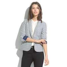 I just bought this yesterday! It's going to go with everything! Tailored Blazer in Stripe