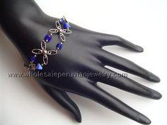 Handmade Blue Nuggets Inca Bracelethttp://www.wholesaleperuvianjewelry.com