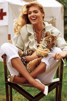 Kate Upton Harpers Bazaar May 2013 Tiger