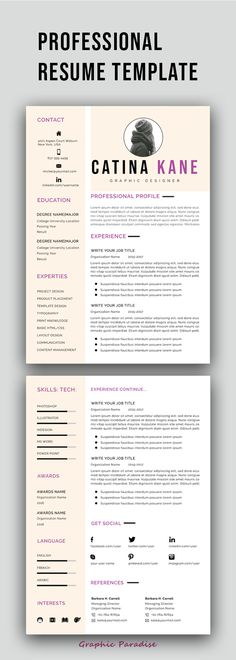 professional resume template instant download resume template creative resume cv cv design - Resume Templates For Mac Word