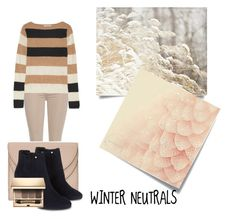 """Winter Neutrals"" by bubblegum-penguin ❤ liked on Polyvore featuring Post-It, 7 For All Mankind, MaxMara, Chloé, Monsoon and Clarins"