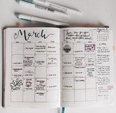bullet journal monthly log