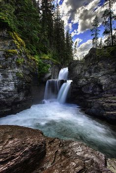 St Mary Falls - Glacier National Park by Michael Brandt on 500px