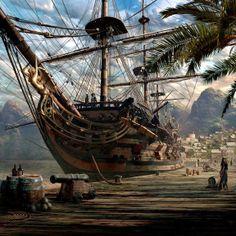 Fantasy World Ships_SarelTheron 02