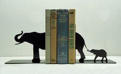 adorable elephant bookends