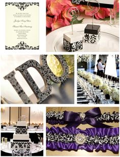 Winter Wedding Fashion: Damask Wedding Ideas and Cards