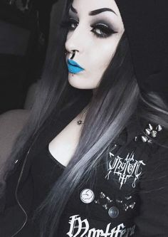 This blue lipstick is amazing.