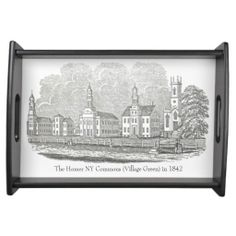 Shop The Homer NY Commons (Village Green) in 1842 Tray created by TheHistoricHomerShop. My Roots, Cemetery, Soldiers, Barber, Tray, Military, Community, York, Paris