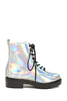 Product Name:Holographic Ankle Boots, Category:Shoes, Price:34.9