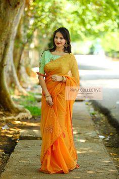 <br> A Road MLA Colony Banjara Hills Hyderabad - <br> Contact : 9160560480 to Saree Blouse Patterns, Saree Blouse Designs, Saree Jackets, Nauvari Saree, Indian Wedding Fashion, Lehnga Dress, Fancy Sarees, Hand Designs, Fabric Painting