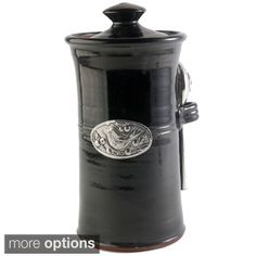 Artisans Domestic Coffee Canister with Bird Accent