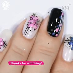 style nails This nail artist simply nailed it! By: yagala Nail Art Hacks, Gel Nail Art, Acrylic Nails, Nail Polish, Diy Nails, Cute Nails, Pretty Nails, Nail Art Designs Videos, Nail Art Videos