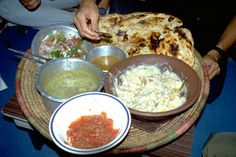 Yemeni food in Sana'a, North Yemen