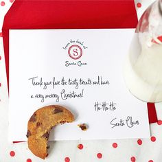 Note cards from Santa to send to your little one or to leave as a thank you for the cookies on Christmas Eve!