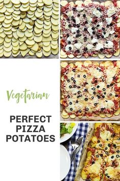 Pizza Potatoes – Ready in 45 Mins Hands down, the best gluten-free pizza alternative out there. Never feel like you're missing out again!Hands down, the best gluten-free pizza alternative out there. Never feel like you're missing out again! Vegetarian Pizza, Vegetarian Recipes Dinner, Pizza Recipes, Veggie Recipes, Dinner Recipes, Gluten Free Pizza, Vegan Gluten Free, Cake Hacks, Perfect Pizza