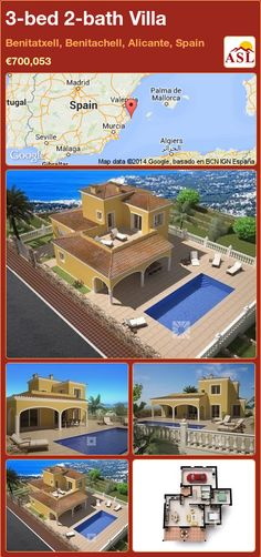 3-bed 2-bath Villa in Benitatxell, Benitachell, Alicante, Spain ►€700,053 #PropertyForSaleInSpain