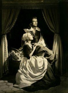 """Josette Day and Jean Marais in """"La Belle et la Bête"""" (Jean Cocteau, 1946)"""