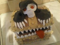 Discworld Luggage and Death Cake