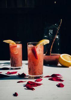 strawberry rosewater chia fresca