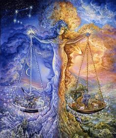 Signs of the Zodiac by Josephine Wall: Libra Josephine Wall, Art Libra, Zodiac Art, Zodiac Signs, Libra Sign, Libra Astrology, Libra Horoscope, Virgo, Astrological Sign