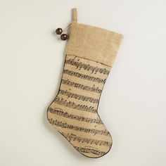 One of my favorite discoveries at WorldMarket.com: Music Note Stocking