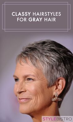Classy Hairstyles For Gray Hair is part of Tribal tattoos For Women - Stunning silver strands ahead Sophisticated Hairstyles, Classy Hairstyles, Stylish Haircuts, Celebrity Hairstyles, Shaggy Hairstyles, 1950s Hairstyles, Formal Hairstyles, Pixie Hairstyles, Short Grey Hair