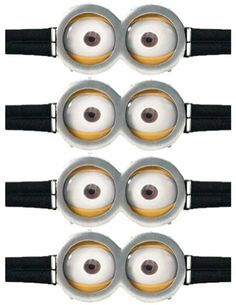 Printable Minion Goggles images