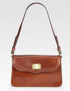 Leather Flap Bag that looks perfectly worn in.