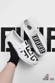 cd16928dec9dbe Introducing our new hand painted Fendi print Vans custom sneakers. If you  are looking for