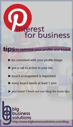 Pinterest for business: optimize your profile - BLG Business Solutions